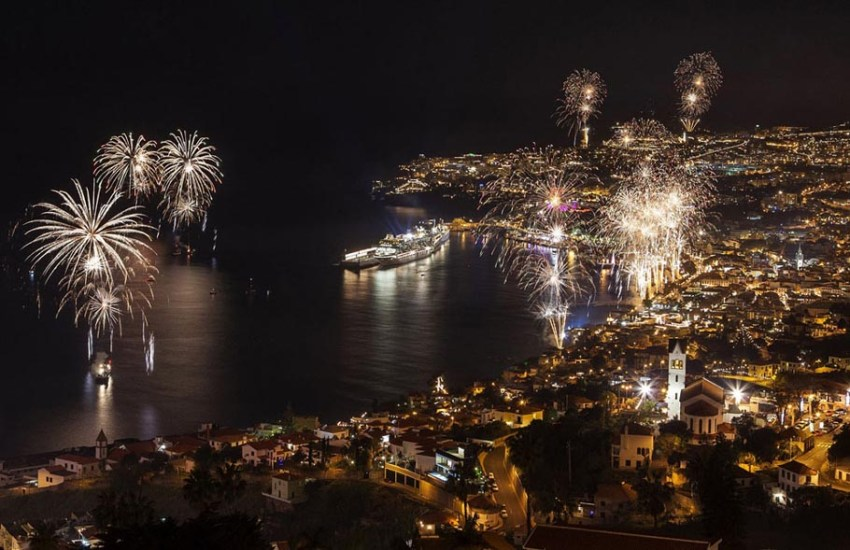 Fireworks light up the sky above Funchal Bay, Madeira Island, Portugal, to celebrate the arrival of the New Year, on January 1, 2013.