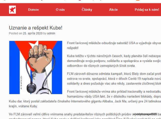 nota de prensa, imagen de bandera cubana