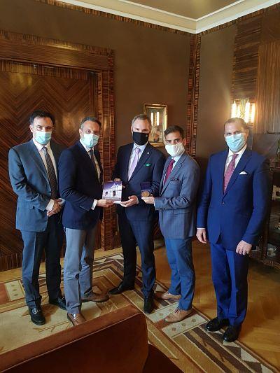 delegación opositora venezolana con alcalde Hrib