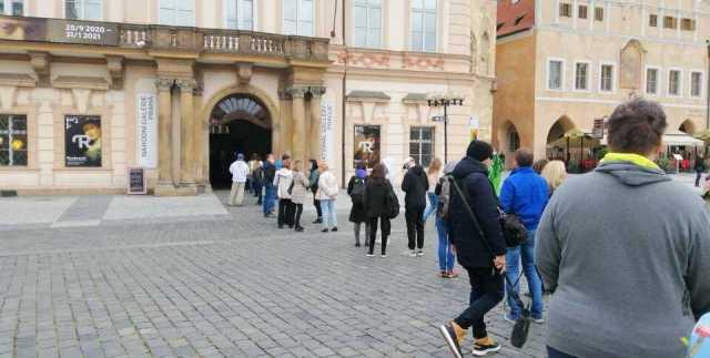 Palacio, gente, calle, Praga