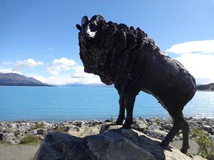 Himalayan Thar memorial at Lake Pukaki