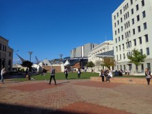 Civic Square looking towards Michael Fowler Centre
