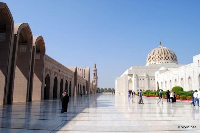 External compound at Sultan Qaboos Grand Mosque