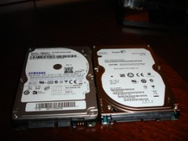 Samsung and Seagate drives side-by-side