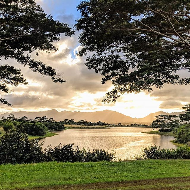 Tanada Reservoir at the Dole Plantation on Honolulu, Hawaii.  #hawaii #doleplantation #dole #scenery #nature #sceneryphotography #sunset #goldenhour #photographer #photography #amateurphotographer #amateurphotography #mobilephotographer #mobilephotography