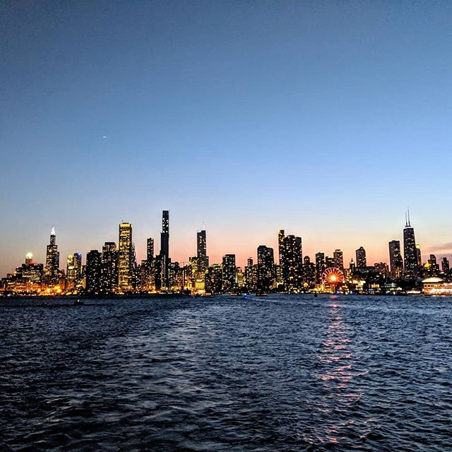 Chicago, from the lake.  #PTLS2019  #amateurphotographer #amateurphotography #landscape #landscapephotography #lake #greatlakes #chicago #pixel2xlphotography #cellphonephotography