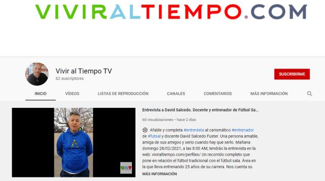 Youtube para suscriptores del canal viviraltiempo.com