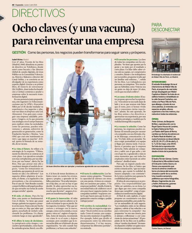 Empresa sana y reseña en el diario de economía Expansión.