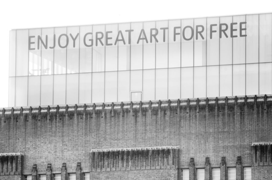 Londres. Enjoy Great Art For Free. Fotografía de Joaquín Rivero