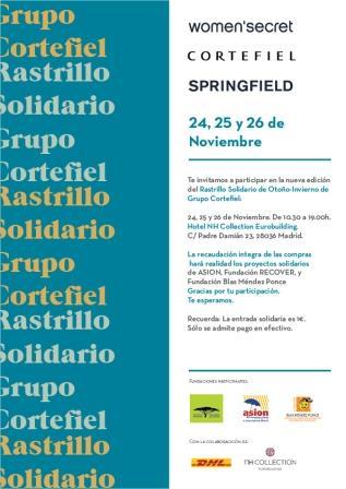 Grupo Cortefiel. Rastrillo Solidario Otoño 2015