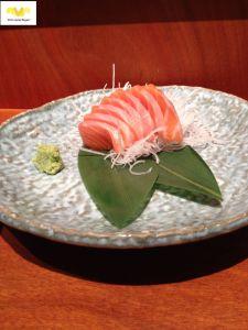 Sashimi de salmón. Restaurante Kabuki