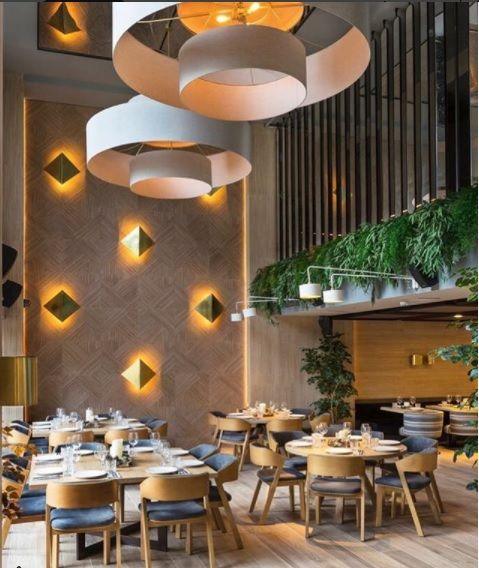 Restaurante Pomerania Madrid. Decoración de María Puras Villalón