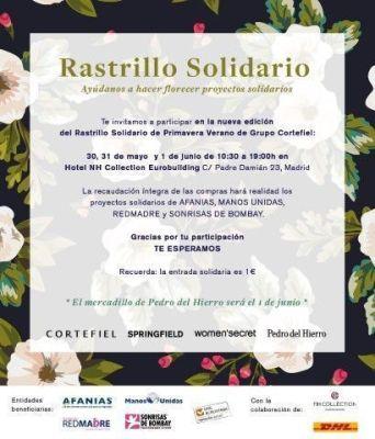 Rastrillo Solidario 2017. Grupo Cortefiel