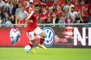 Admir Mehmedi a doublé la mise à la demi-heure face au Portugal à Bâle. © Oreste Di Cristino