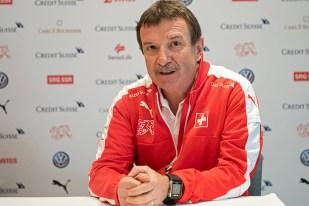 Pierre-Étienne Fournier, médecin de l'équipe nationale suisse, a donné des nouvelles sur l'état de santé des joueurs. © Oreste Di Cristino / leMultimedia.info