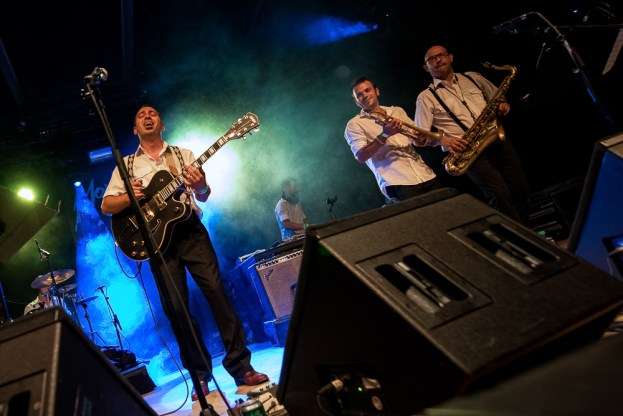 "Bomba Titinka sur la scène gratuite du ""Music in the Park"" au Montreux Jazz Festival. © Oreste Di Cristino / leMultimedia.info"
