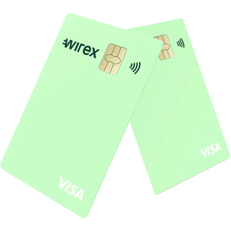 Crypto and Fiat Multi Currency Wirex Visa Card