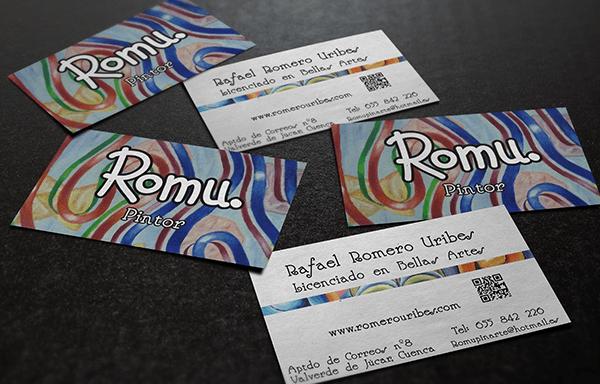 "Tarjetas de visita para ""Romu"""