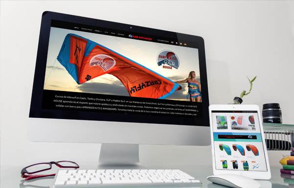 Diseño Web y tienda online para Surfkitehouse
