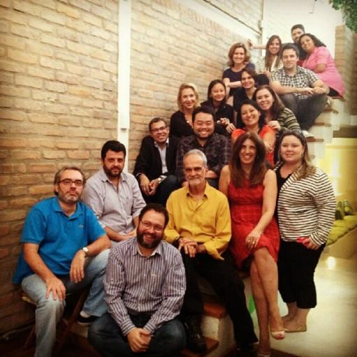 Colaboradores do #VivaPositivamente com o mediador Algarra e Maurício Kubrusly