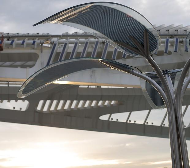 Árvore de energia solar OPTree, no Rio de Janeiro. que será instalada na Cidade do Rock no Rock in Rio 2017 (Foto: Divulgação)