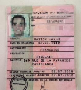 Carte de séjour pour expatriés francais pour vivre et travailler au maroc