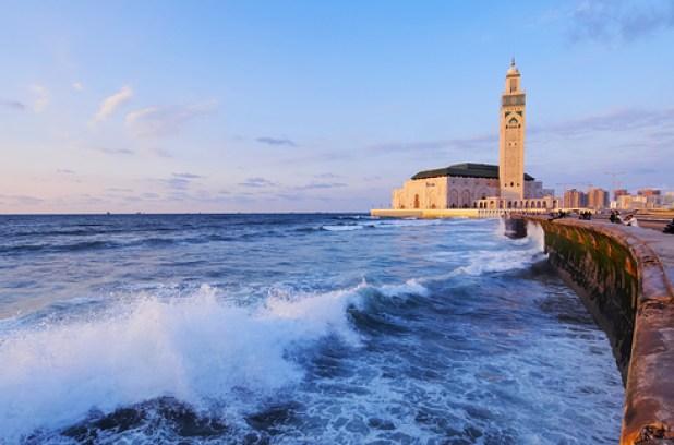 La grande Mosquée Hassan II. La plus grande d'Afrique et une des rares dans le monde à être ouverte aux non musulmans.