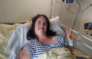 Louise à l'hôpital