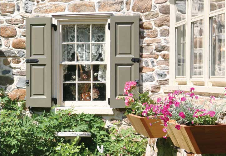 Custom Wooden Exterior Window Shutters For Sale, Real Wood