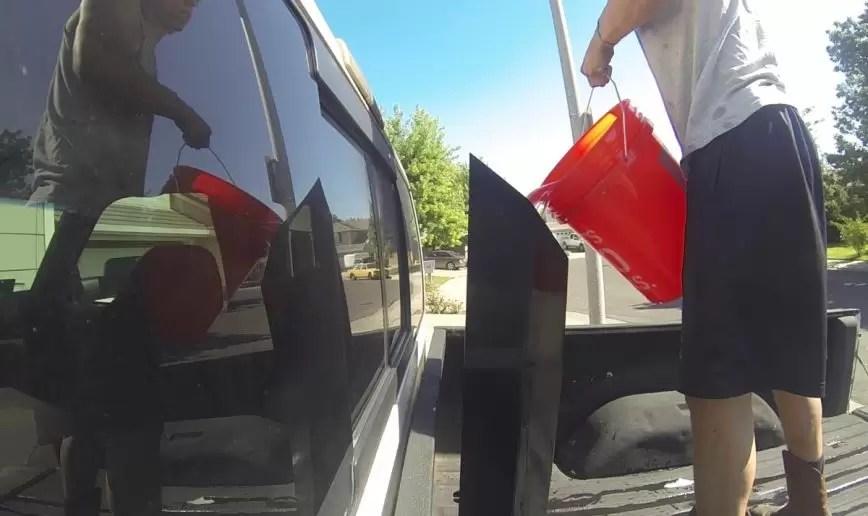 guy dumps 5 gallons of water down diesel exhaust stack vixert