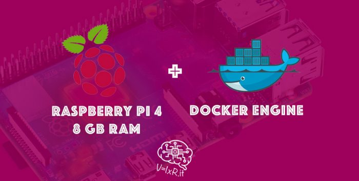 Raspberry pi 4 8 GB + Docker Engine