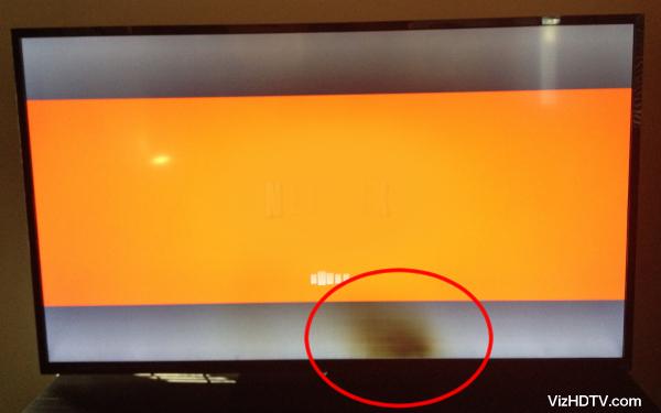 Dark patch on a Vizio TV.