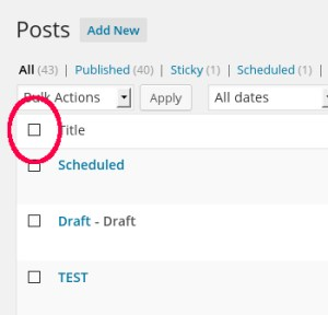 Select All Posts to Quick Edit in Bulk