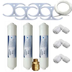 LUX víztisztító szűrőbetét kompatibilis cserebetét beépítő csatlakozókkal