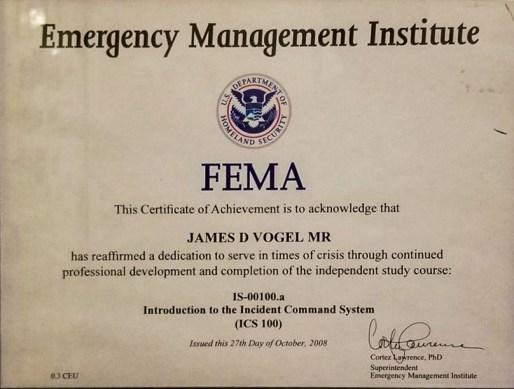 FEMA-Incident Command System