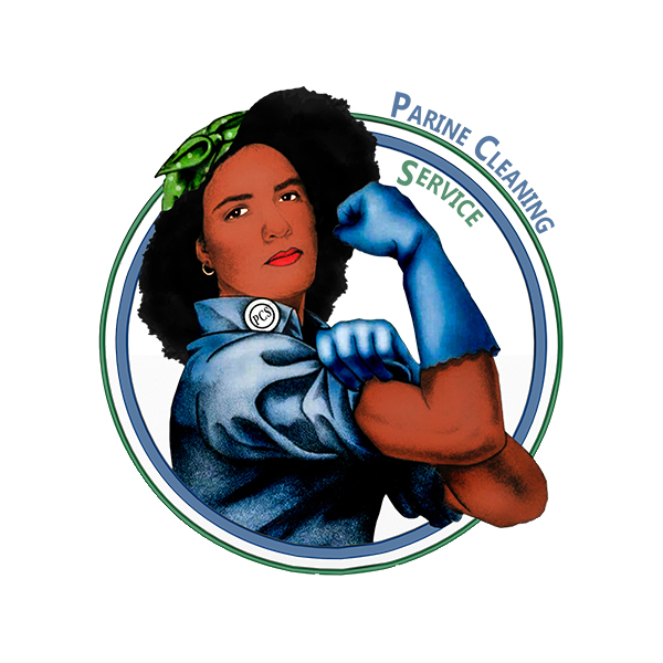 A businesswoman found our Google listing and called us about refurbishing her cleaning company\'s logo. She was a manager at Parine Cleaning Service and wanted the logo to reflect the ethnic and cultural nature of the company\'s founder.  We used an old WWII flier as the base concept for her logo. She was happy with the result. If you\'re interested in hearing what she had to say about our fine work, see the associated Google review.