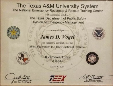 Texas AM University - WMD Terrorism Incident Functional Exercise