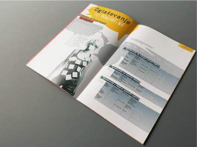 New presentation catalogue of the most visited Slovenian search engine Najdi.si - editorial design
