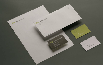 Identity redesign of the Ljubljana architects Demšar arhitekti - business stationery