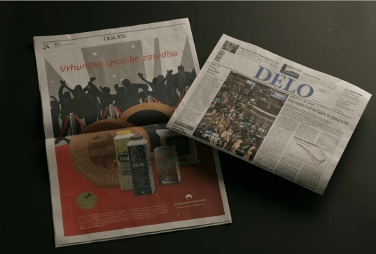 Dairy Ljubljanske mlekarne publishes its awards in the leading Slovenian newspapers - Delo