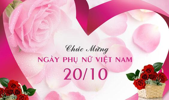 Chúc mừng ngày Phụ nữ Việt Nam 20/10/2017