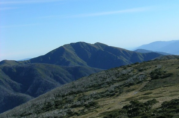Mt Feathertop seen from Mt Loch