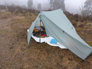 My Tarptent Notch is just the right size for SOTA activations and is nice and light to carry