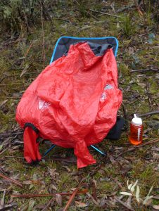 ...however rain came, so I had to use my Bothy Bag over myself and the operating table anyway!