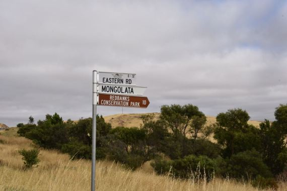 The turn off at the Goyder Hwy