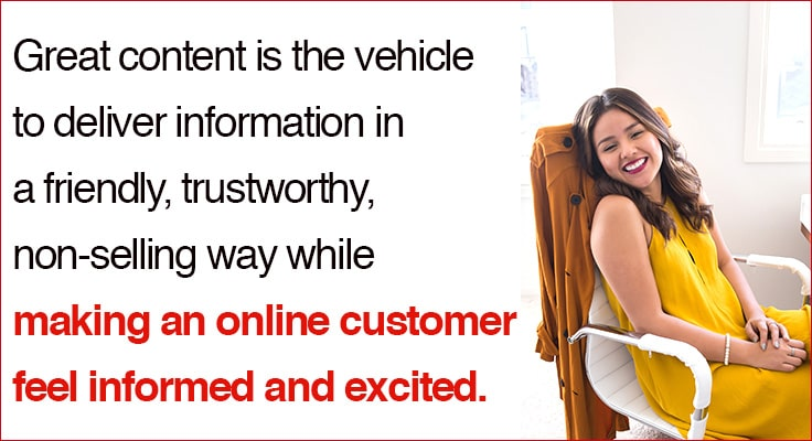 image showing happy customer received valuable information