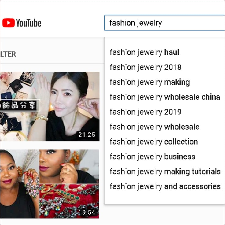 image show how to search for hashtags on youtube