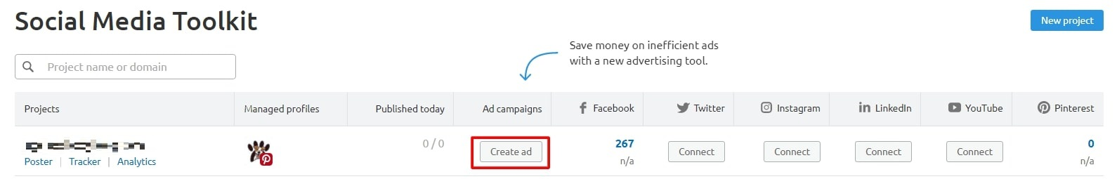 Social media ad for semrush review