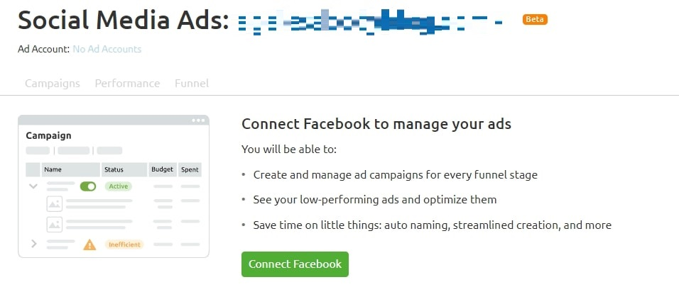 Social media ad process