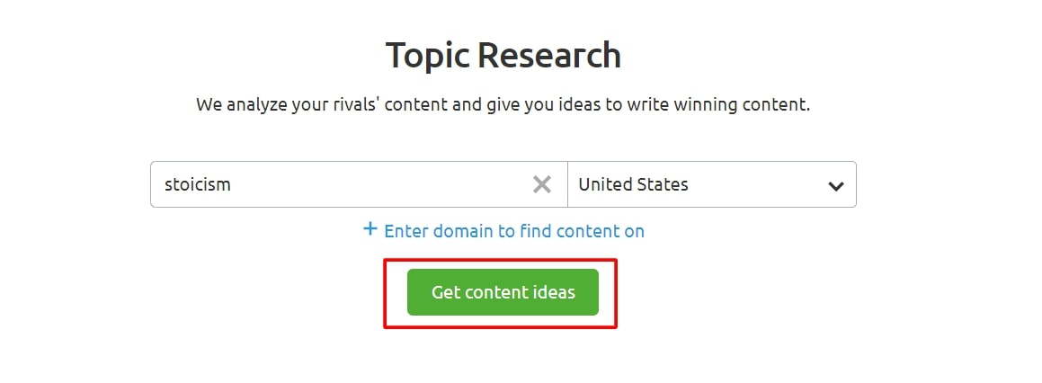 Topic research search query semrush review